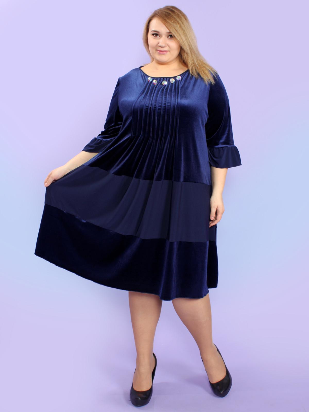 Бархатные платья большого размера